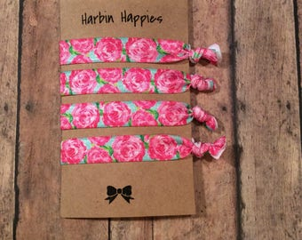 Lilly Pulitzer Inspired Elastic Hair Ties