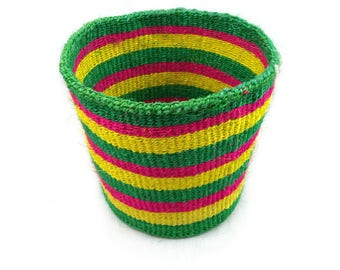 Storage basket, African basket, sisal basket, kiondo, shopping basket, toy basket, display basket