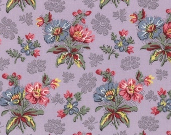Moda COLLECTIONS MILL BOOK Series 1835 Quilt Fabric 1/2 Yard By Howard Marcus - Lavender 46154 14