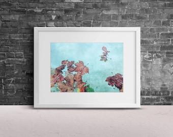 "Photography ""Seasons"" Print Wall Art Decor Gift Autumn Fall Leaves Water Travel"