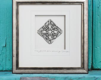 Celtic Knot, Pewter, Framed