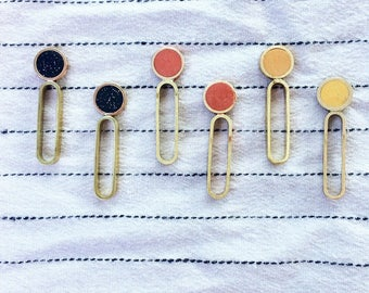 Dot Dash earrings in your choice of colors