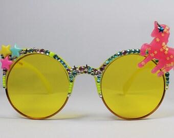 Spangled Unicorn Embellished Sunglasses