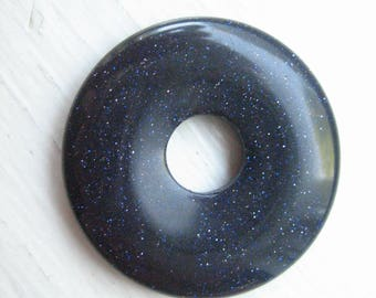 Stone Donut Pendant Etsy