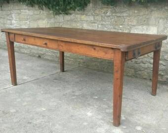 Large Vintage Pine Table