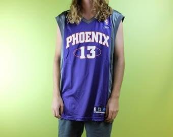 64c48b268a1 ... Vintage 90s Phoenix Suns NBA Steve Nash 13 Reebok Basketball Jersey -  Size XL ...