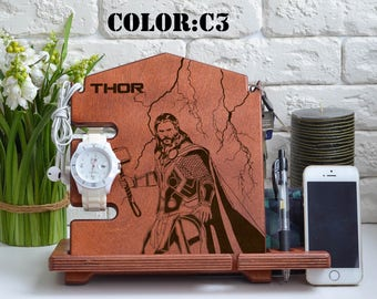 Thor Avengers Loki Art Avengers Gift wood stand Thor Poster Thor Wall Art Thor Decor Thor Movie Thor Home Decor Loki Print custom