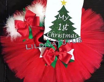 My first Christmas tutu set / Christmas tutu set
