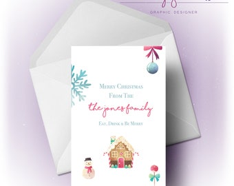 Merry Christmas | From the Family | Card
