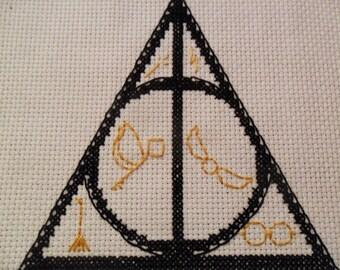 Deathly Hallows Cross Stitch