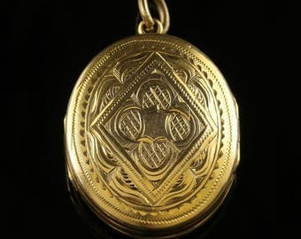 Antique Victorian Gold Family Locket Circa 1900