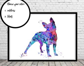 Boston Terrier, watercolor Boston Terrier, Boston Terrier print, Terrier, Terrier print, dog print, dog art, dog, Kids Room Decor (3586,7b)
