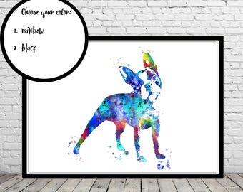 Boston Terrier, watercolor Boston Terrier, Boston Terrier print, Terrier, Terrier print, dog print, dog art, dog, Kids Room Decor (3588,9b)