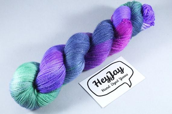 Hand Dyed Sparkle Merino Sock Yarn - Crown Jewels