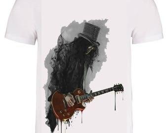 Slash guns and roses #490 men top men t-shirt uk seller