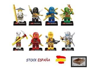 Pack 8 minifigure Ninjago compatible lego Superheroes