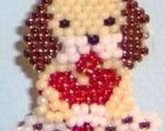 Puppy Love - Brick Stitch Beading Pattern