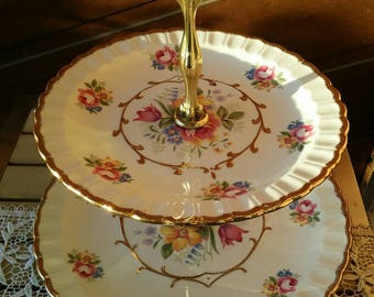 Cake Plate/Woods Sons/English/2 tiered