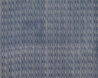 "Stripe Printed, Navy Blue Fabric, Dress Fabric, Home Accessories, Quilt Fabric, 45"" Inch Cotton Fabric By The Yard ZBC8995A"