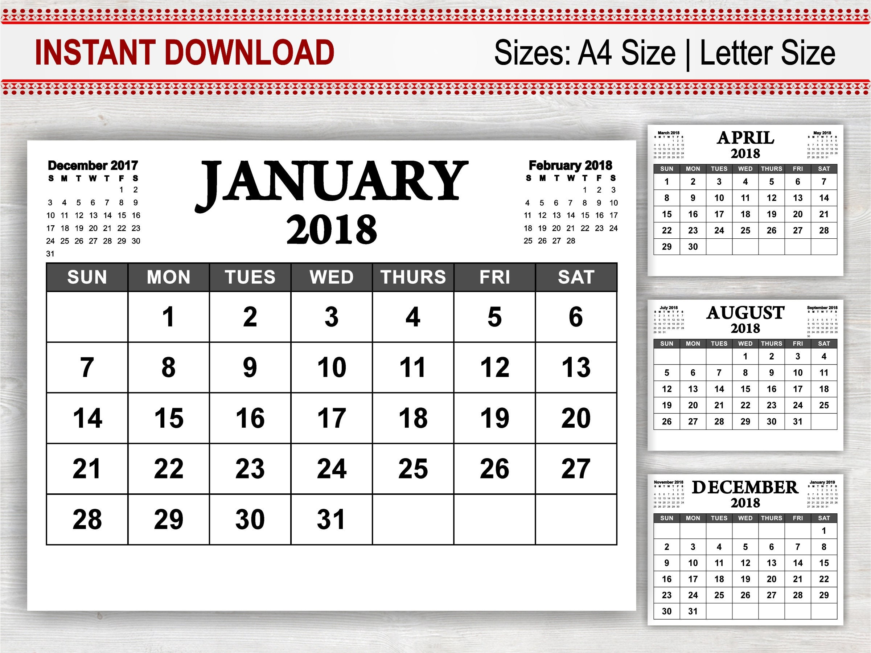 editable calendar 2018 17