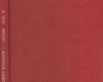 Virginia County Records Vol X 1971 Hardcover By Crozier Hardcover
