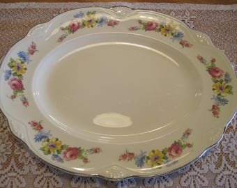 Homer Laughlin Platter Marigold Shape - Item #1526