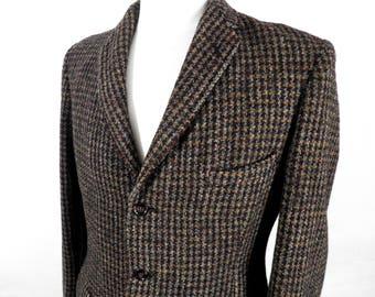 Vintage Harris Tweed Jacket  Size M     Interesting History  Collectable