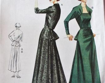 Vogue pattern, V8768, misses dress, original 1950 design, Vogue Vintage dress, mid calf dress & long sleeve, sz:  12, 14, 16 18