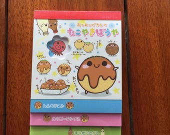 Crux/ Takoyaki/ Medium size with Flower Die-cut Memo/ Brand New