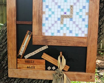 Magnetic Scrabble - Classic Game with Magnetic Chalkboard