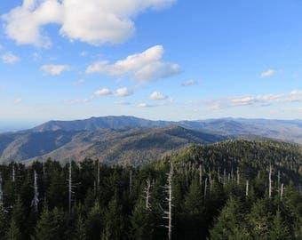 Smoky Mountain Skyline - Color print