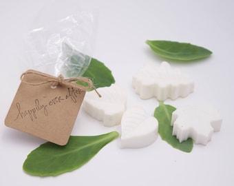 Wedding Favors, Bridal Shower Favor, Handmade Soap, Wedding Soap Favors, Bridal Party Soap Favors, Custom Bridal Shower Soap Favors, Leaves