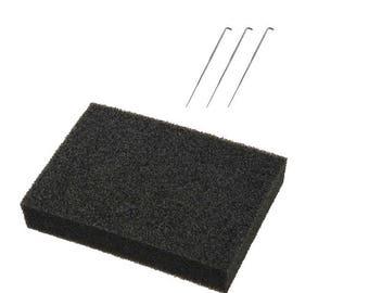 Needle Felting Starter Kit | Needle Felting Foam Pad | 3 Felting Needles No.36 No.38 No.40