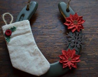 Christmas Stocking Horseshoe