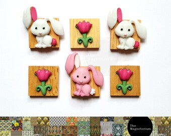Rabbit Fridge Magnet Set