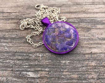 Purple Dragon Scales Pendant. Mermaid Scales Necklace. Magic. Fantasy. Dragon Skin. Dragon Egg. Gifts for Her. Mythological