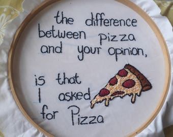 Pizza Embroidery Hoop