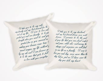 Personalized Wedding Vow Pillows - Set of 2 Pillows - FREE SHIPPING