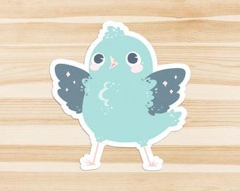Blue Birb Sticker
