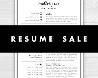 Resume Template Sale, Resume Sale, All resumes 1 dollar! Limited time only!!
