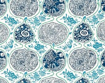 SCHUMACHER CHINOISERIE JAPANESE Katsugi Fabric 5 Yards Cobalight Turquoise