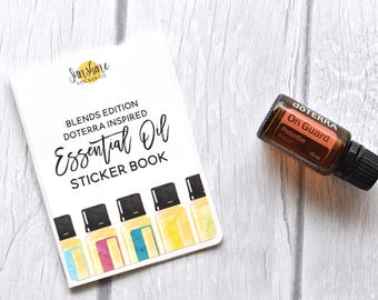 Doterra Inspired Essential Oil Label Sticker Book OIL BLENDS EDITION *no codes please*