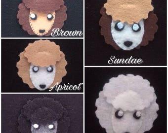 Hand sewn felt poodle accesory
