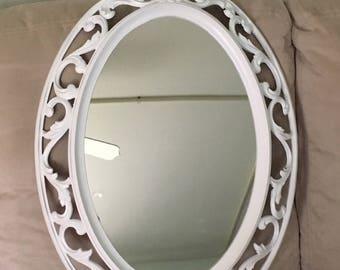 Vintage Syroco White Mirror 28x17