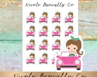 Jade Dolls- Car- Character Planner Stickers