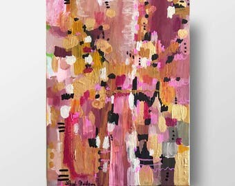 Autumn Bouquet - 12 x 9 inches - Acrylic and Ink on Canvas- FREE shipping