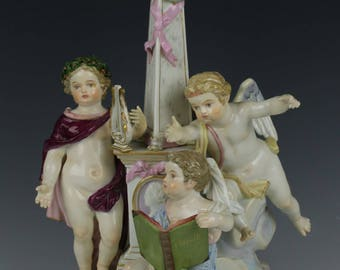 "Rare Meissen Acier Figurine ""Allegory of Poetry"""