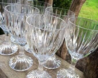Gorgeous Set of 4 (Four) Mikasa PARK LANE Crystal WINE Glasses - Replacement Glasses, Elegant Table, Barware, vintage crystal