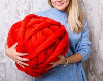 Chunky yarn, Merino yarn, Wool yarn, Super chunky yarn, Merino Wool, Wool roving, roving, Arm knitting merino wool, 21 microns