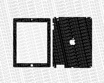 iPad 4 Skin template for cutting or machining - Digital Download for plotters, CNCs, Laser cutters, Silhouette Cameo, Cricut | 11 CUT Files